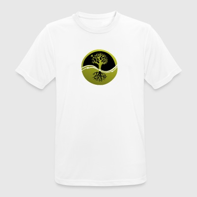 Tree with roots - Men's Breathable T-Shirt