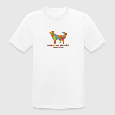 Shepherd of the Pyrenees Face Rase Multicolore - Men's Breathable T-Shirt