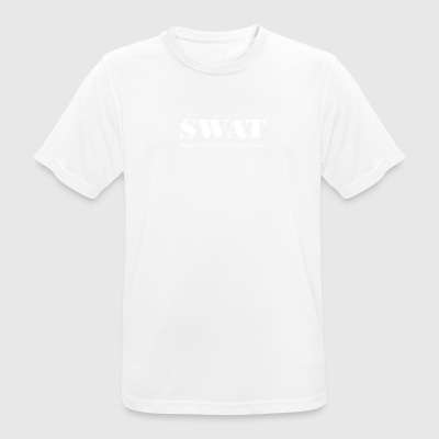 Swat white - Men's Breathable T-Shirt