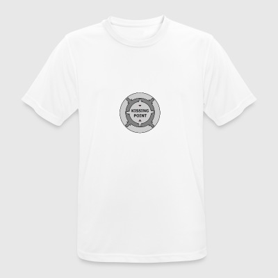 Kissing Point Grey - Andningsaktiv T-shirt herr