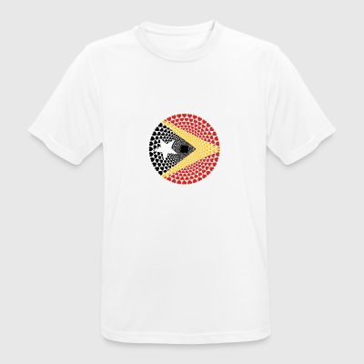 Timor East Timor Love HEART Mandala - Men's Breathable T-Shirt
