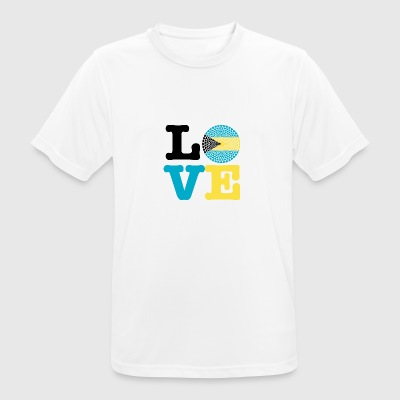 Bahamas heart - Men's Breathable T-Shirt
