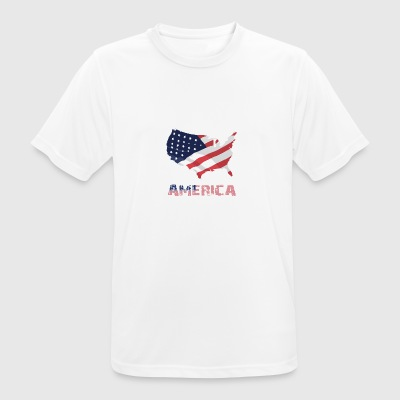 Amerikanske Flag USA Independence Day - Herre T-shirt svedtransporterende