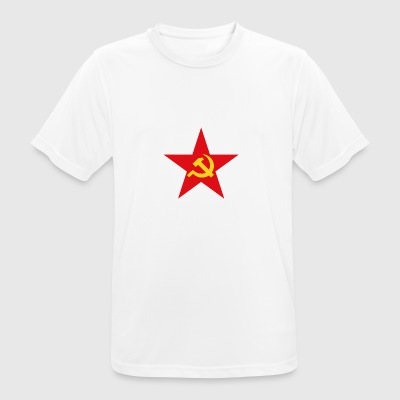 Communist star with hammer and sickle - Men's Breathable T-Shirt