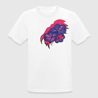Crack with hawaii flowers - Men's Breathable T-Shirt
