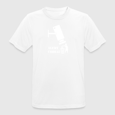 privacy wite - mannen T-shirt ademend