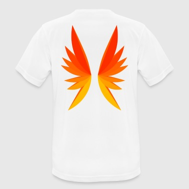 Wing red - yellow - Men's Breathable T-Shirt