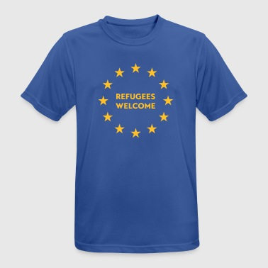 Refugees welcome in EU - Men's Breathable T-Shirt