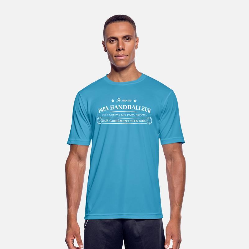 T Handballeur Homme Bleu Saphir Shirt Respirant Papa 15uJFTKc3l
