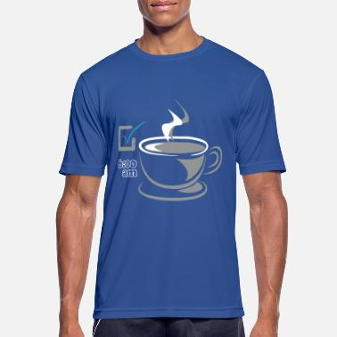 Early Risers Coffee CHECK for early risers - Men's Breathable T-Shirt