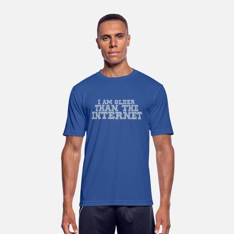 Blog T-Shirts - I am older than the internet - Men's Sport T-Shirt royal blue