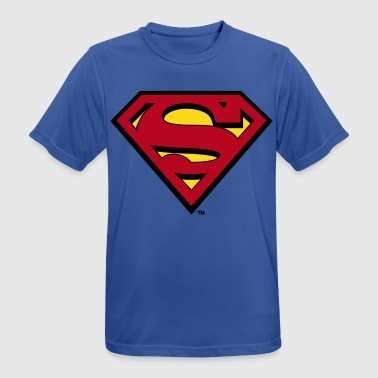 Logo Superman S-Shield in Flex - Männer T-Shirt atmungsaktiv