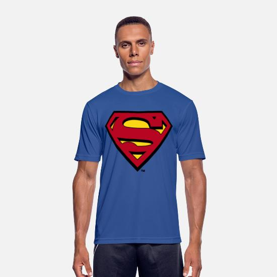 Superman T-Shirts - Superman Logo S-Shield - Männer Sport T-Shirt Royalblau