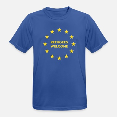 Refugees Welcome Refugees welcome in EU - Men's Breathable T-Shirt