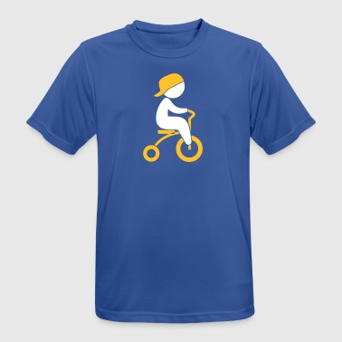 Boy Riding His Tricycle - Herre T-shirt svedtransporterende
