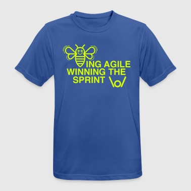 BEING AGILE WINNING THE SPRINT - Men's Breathable T-Shirt