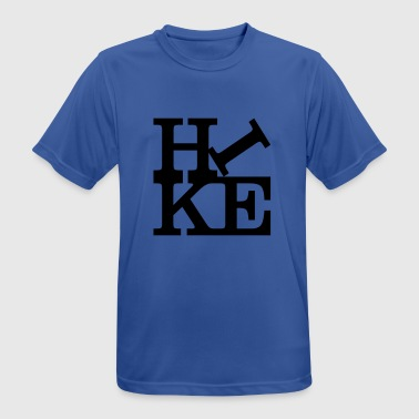 hike Homage to Robert Indiana black inside - Men's Breathable T-Shirt