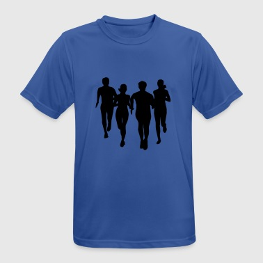 run, running - people running - Men's Breathable T-Shirt