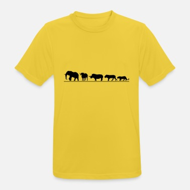 Five The big five der Safari - Männer Sport T-Shirt