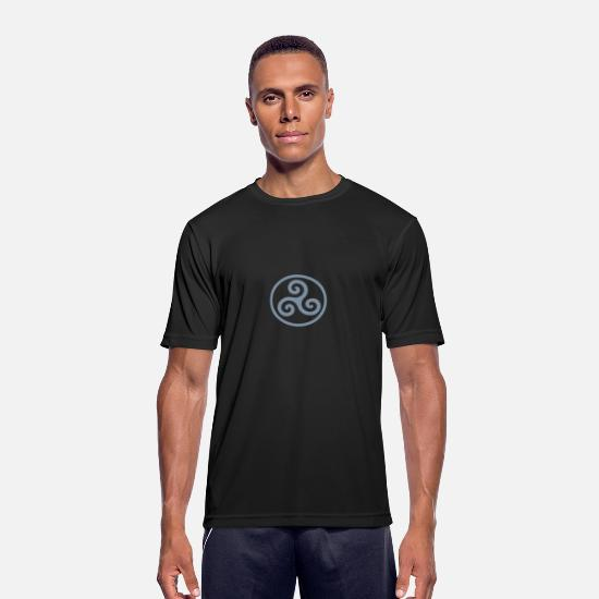 Slavinde T-shirts - Triskele / Ring of O - Sports T-shirt mænd sort