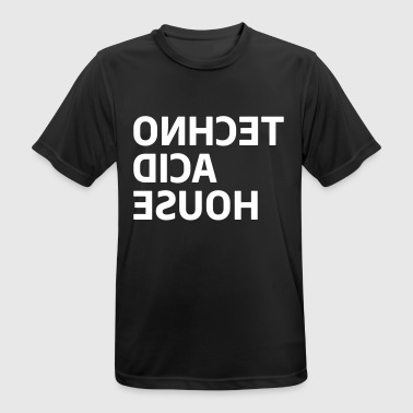 Techno Acid House Musik Club DJane - Andningsaktiv T-shirt herr
