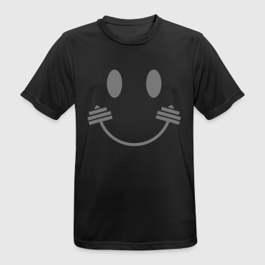 Happy Gym Smiley - Camiseta hombre transpirable