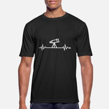 Heartbeat telescope astronomy astrology stars - Men's Sport T-Shirt