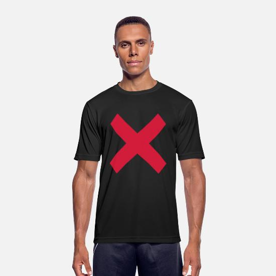 Red T-Shirts - cross - Men's Sport T-Shirt black