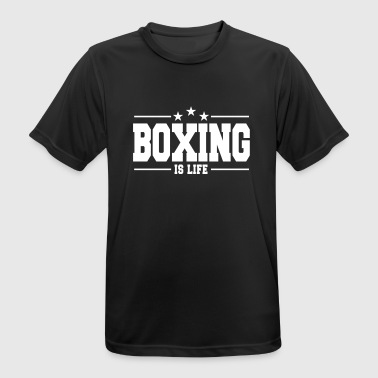 boxing is life 1 - mannen T-shirt ademend