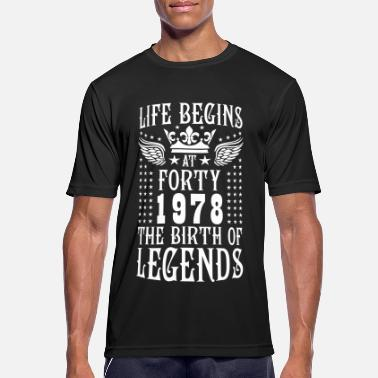 Birth Life begins with the birth of legends in 1978 - Men's Sport T-Shirt