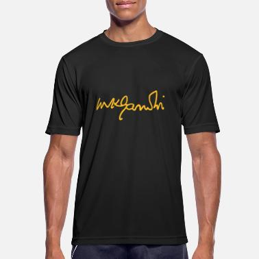 Celebrity gandhi signature - Men's Sport T-Shirt