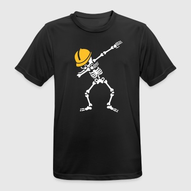 Dab skeleton dabbing construction worker  enginer - T-shirt respirant Homme