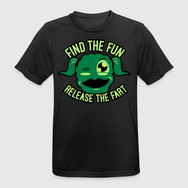 Selvironi #GirlsOnly: Find The Fun - Release the Fart - Herre T-shirt svedtransporterende
