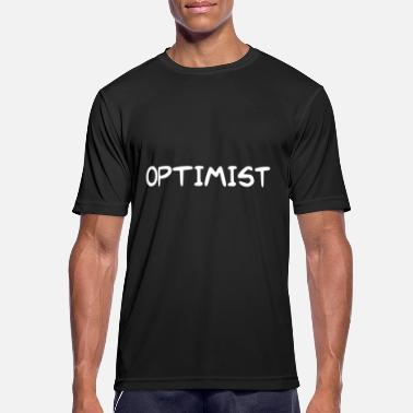 Optimist bogstaver OPTIMIST - Herre T-shirt svedtransporterende