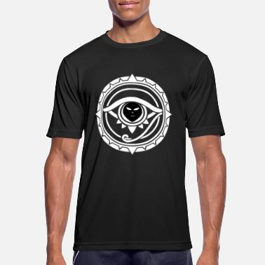 Mystisk Alien Eye Tribal Sacred Geometry Techno Psyched - Sport T-skjorte for menn