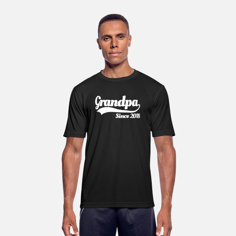 2018 T-Shirts - Grandpa since 2018 - Men's Sport T-Shirt black