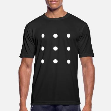 Connect 4 CONNECT 9 DOTS WITH 4 LINES / BRAIN EXERCISE - Men's Breathable T-Shirt