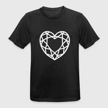 Sølvbryllup Heart Diamond Ruby Heart Leaf Heart Love - Herre T-shirt svedtransporterende