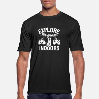 Explore the great indoors (gaming) - Men's Breathable T-Shirt