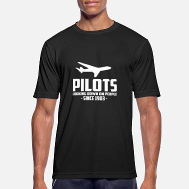 Model pilots looking down on people quote - Men's Breathable T-Shirt