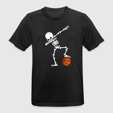Dab dabbing skeleton football basketball - Pustende T-skjorte for menn