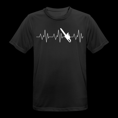 Heartbeat forestry - Men's Breathable T-Shirt
