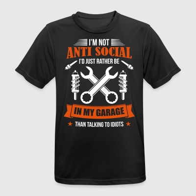 Mechanic in garage asociaal - - mannen T-shirt ademend