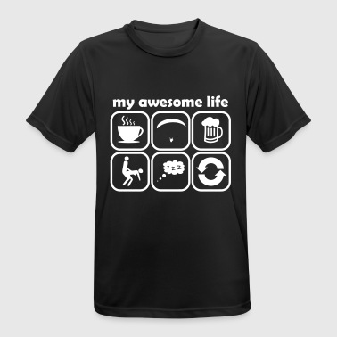 my awesome life as a paraglider gift - Men's Breathable T-Shirt