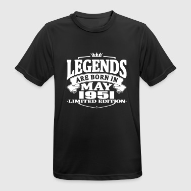 Legends are born in may 1951 - Men's Breathable T-Shirt