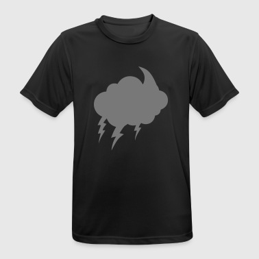 bubble cloud lightning dark cloudy lightning 22120 - Men's Breathable T-Shirt
