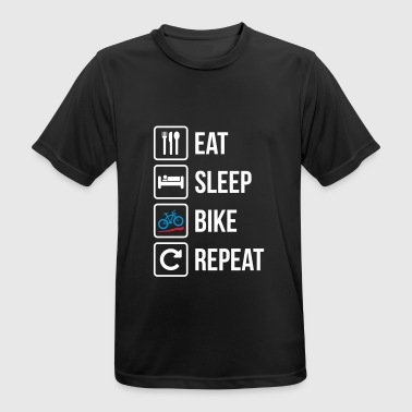Eat Sleep Bike Repeat - Maglietta da uomo traspirante