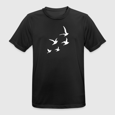 Flying Swallows - Men's Breathable T-Shirt