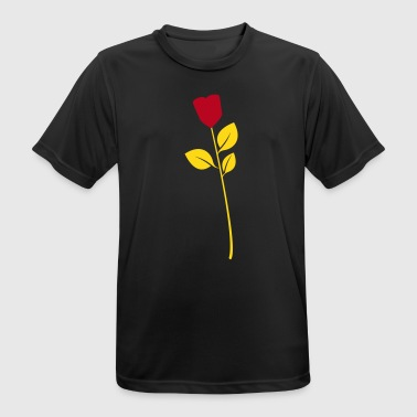 Rose, flower, heart - Männer T-Shirt atmungsaktiv