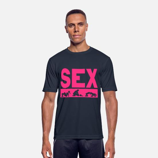Love T-Shirts - sex couple position word love icon - Men's Sport T-Shirt dark navy